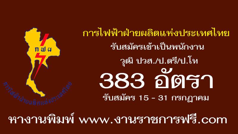 การไฟฟ้าฝ่ายผลิตแห่งประเทศไทย 383 อัตรา