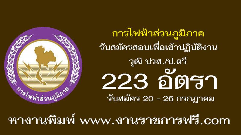 การไฟฟ้าส่วนภูมิภาค 223 อัตรา