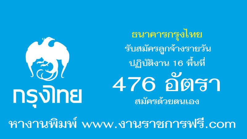 ธนาคารกรุงไทย 476 อัตรา